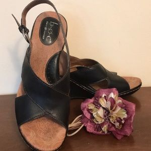 boc 9 leather wedges